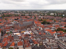 Amersfoort from above. Amersfoort seen from the Lieve-Vrouwe-toren. The Netherlands Royalty Free Stock Photography