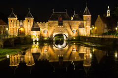 Amersfoort city Gate - Koppelpoort. The Koppelpoort is a medieval combined land- and water gate in the Dutch town of Amersfoort. Build around 1425 and is part of Stock Image