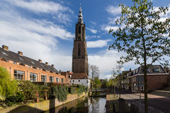 Amersfoort Medieval town wall Koppelpoort and the Eem river Royalty Free Stock Photography