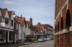 Amersham Old Town. In Buckinghamshire Near the Marketujj Royalty Free Stock Photo
