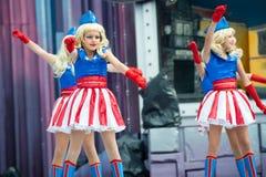 Amerykańscy błękitni i czerwoni kostiumy fotografia royalty free