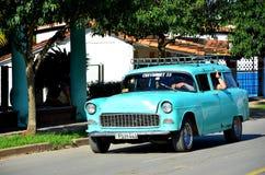 Amerykańscy chevrolety Kuba, w Vinales Zdjęcia Royalty Free