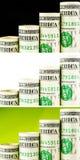 Amerykańscy dolarowi dorośnięcie kroki Fotografia Stock