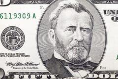 Amerykańscy dolary, zakończenie zdjęcie royalty free
