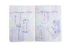 Amerykańscy paszportów znaczki Obrazy Royalty Free