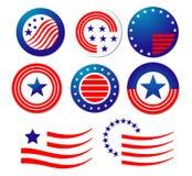 amerykańscy patriotyczni symbole royalty ilustracja