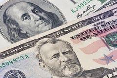 Amerykańscy prezydentów portrety na dolarowych rachunkach zdjęcia stock
