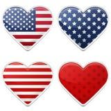 amerykańscy serca Fotografia Royalty Free