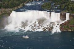 Amerykańscy spadki, widok z lotu ptaka, Niagara Fotografia Stock