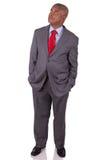 Amerykańska biznesowego mężczyzna pozycja Zdjęcia Royalty Free