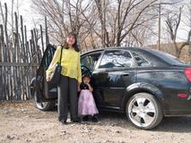 amerykańska córka jej rodzima kobieta Obraz Royalty Free