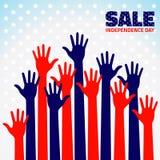 Amerykańska dzień niepodległości sprzedaż Obrazy Stock
