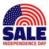Amerykańska dzień niepodległości sprzedaż Zdjęcia Stock