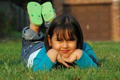 amerykańska dziewczynka meksykańskiego Obraz Royalty Free