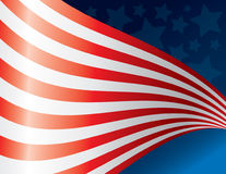 amerykańska flaga machał sztuki Obraz Royalty Free