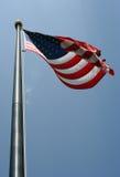 amerykańska flaga wiejący Obrazy Royalty Free