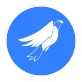 Amerykańska orzeł ikona w czerń stylu odizolowywającym na białym tle Patriota dnia symbolu zapasu wektoru ilustracja Obraz Royalty Free