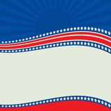 Amerykańska Patriotyczna granica, tło, z gwiazdami ilustracji