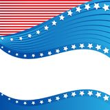 Amerykańska Patriotyczna granica, tło, z gwiazdami royalty ilustracja