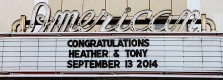 Amerykańska teatr markiza, Charleston, SC zdjęcia royalty free