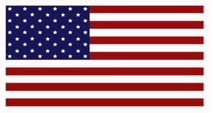 Amerykańska USA flaga państowowa obraz royalty free