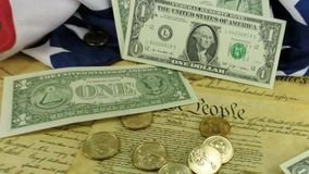 Amerykańska waluta spada na Stany Zjednoczone konstytuci zdjęcie wideo