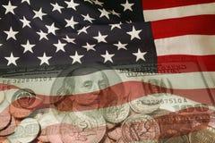 amerykańska waluty ćwierć odizolowane white Zdjęcia Stock