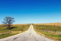 amerykańska wiejska droga zdjęcia stock