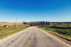 amerykańska wiejska droga obrazy stock