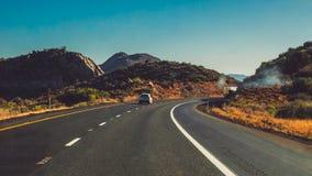 Amerykańska wycieczka samochodowa Sceniczny Mountain View zdjęcia stock