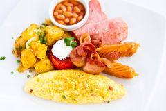 Amerykański śniadanie Obrazy Royalty Free