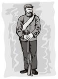 amerykański żołnierz wojny domowej Obraz Stock