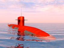 Amerykański atomowy okręt podwodny Zdjęcia Royalty Free
