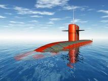 Amerykański atomowy okręt podwodny Fotografia Royalty Free