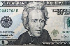 $20 Amerykański Bill Obrazy Stock
