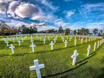 Amerykański cmentarz, Omaha plaża, Normandy, Francja Obrazy Stock