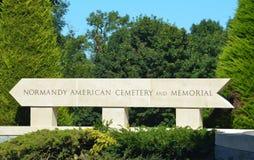 amerykański cmentarz pamiątkowy Normandia obrazy royalty free