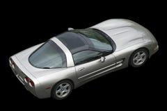 amerykański czerni tła pojedynczy sportscar Zdjęcie Royalty Free
