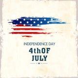 Amerykański dnia niepodległości świętowania plakat lub sztandaru projekt, Obrazy Royalty Free