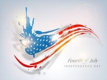 Amerykański dnia niepodległości pojęcie. ilustracji