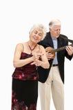 amerykański duetu języka znaka podpisywanie Zdjęcia Royalty Free