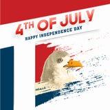 Amerykański dzień niepodległości, świętowanie plakat, sztandar lub ulotka d, Obrazy Stock