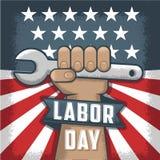 Amerykański dzień niepodległości, Amerykańscy wakacje i wydarzenia, Politycznego flayer błękitny biały, czerwony i royalty ilustracja