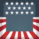 Amerykański dzień niepodległości, Amerykańscy wakacje i wydarzenia, Politycznego flayer błękitny biały, czerwony i ilustracja wektor