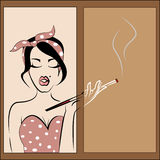 amerykański dziewczyny szpilki krótkopędu studia styl amerykański Obraz Royalty Free