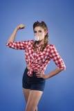 amerykański dziewczyny szpilki krótkopędu studia styl amerykański Zdjęcia Royalty Free