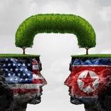 Amerykański I Północny Korea royalty ilustracja