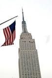 amerykański imperium państwa bandery Zdjęcia Royalty Free
