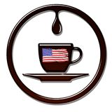 Amerykański Kawowy czas ilustracja wektor