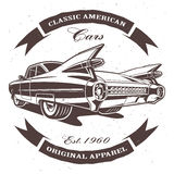 amerykański klasyk samochodowy royalty ilustracja